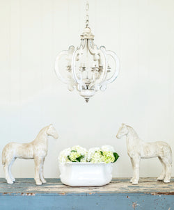 Smallwoods - Resale - Whitewash Wood Chandelier