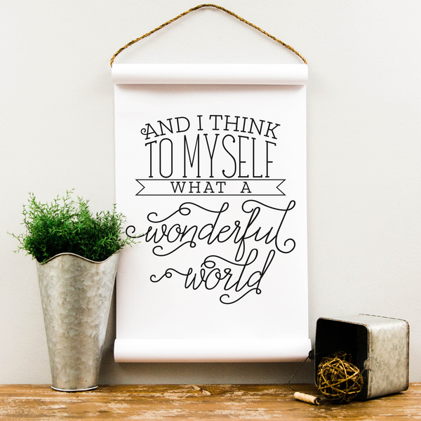 Wall Scroll - Wonderful World - Multiple Sizes