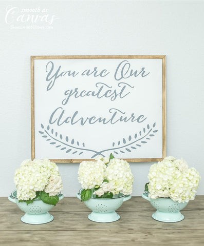 Smallwoods - WOOD SIGNS - Wood Signboard - You Are Our Greatest Adventure (Black Friday Sale)  - 1