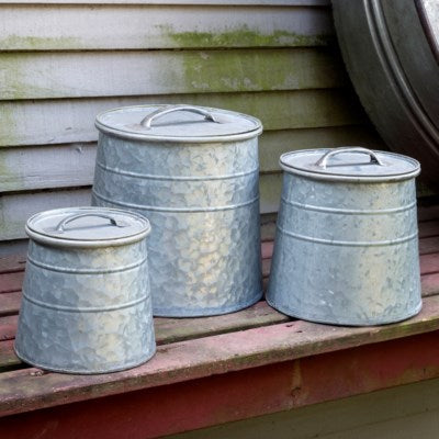 Metal Bulk Seed Canisters Set of 3