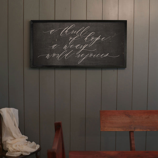 A Thrill of Hope [Chalkboard]