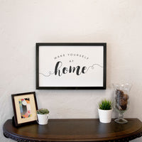 Smallwoods Make Yourself at Home Wood Wall Sign Medium Black