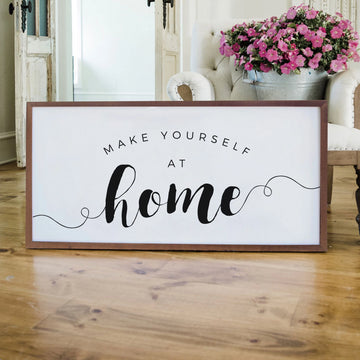 Home Is where the heart is Wooden Wall Art Sign CLEARANCE PRICE 7X7