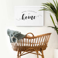 Smallwoods Make Yourself at Home Wood Wall Sign Medium White