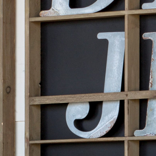 Metal Letters - J O Y (Each Letter Sold Separately)