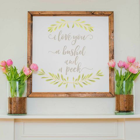Wood Framed Signboard - Bushel & Peck - Multiple Sizes
