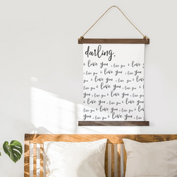 Canvas Hanging Print - Darling, I Love You