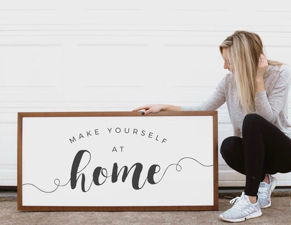 Smallwoods Make Yourself at Home Wood Wall Sign