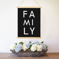 Smallwoods Family Canvas Print Wall Hanging Sign  Vertical Light