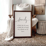 Smallwoods A Whole Lot of Love Wooden Family Sign