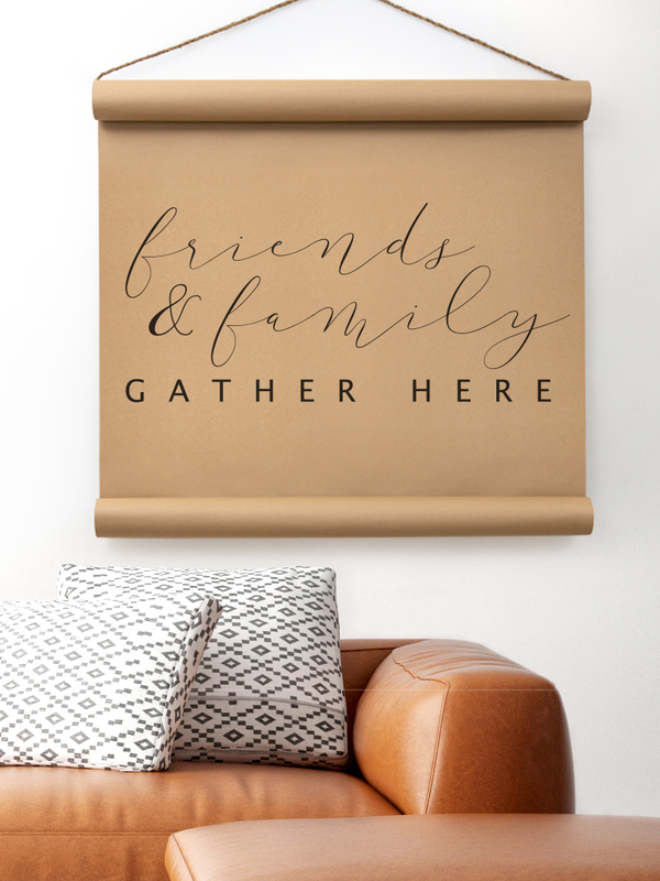 Wall Scroll - Friends & Family