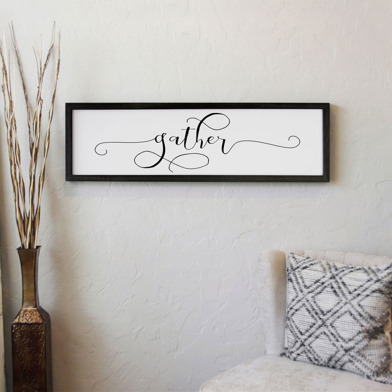 Wood Framed Signboard - Gather - Multiple Sizes