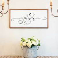 Smallwoods Gather Wood Sign XL Stain
