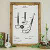 Wood Framed Signboard - Patent Drawing - Golf Club 1900 - M - 18x26