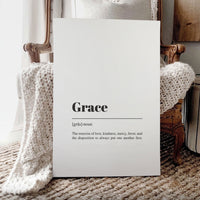Smallwoods Grace Sign on Framed Canvas