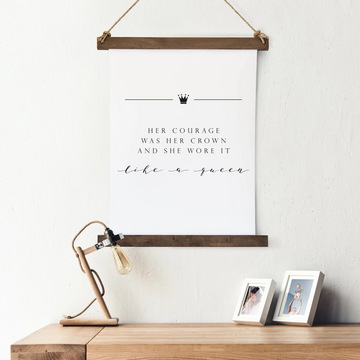 Canvas Hanging Print - Her Crown