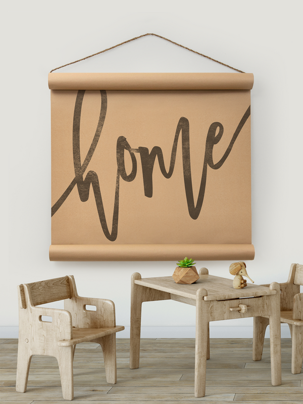 Wall Scroll - Home [Freehand] - Multiple Sizes