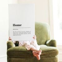 Smallwoods Meaning of Home Word Wall Art