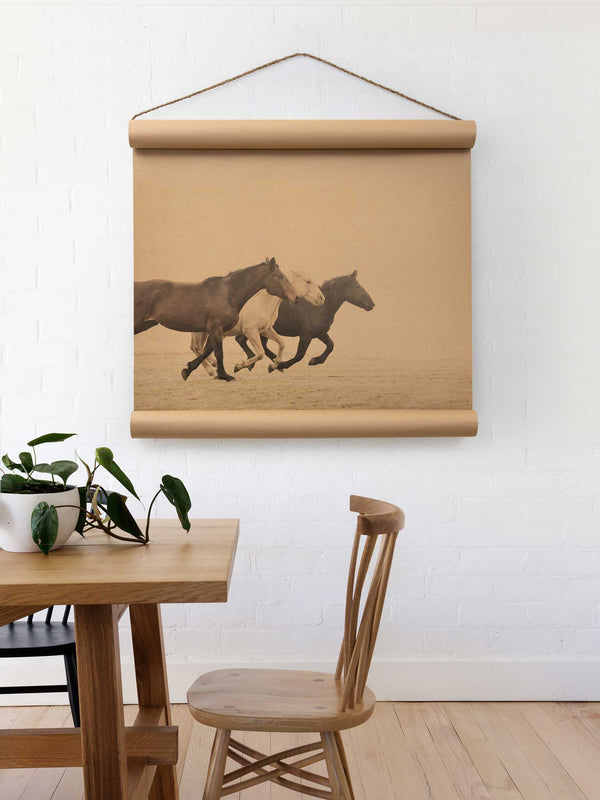 Wall Scroll - Wild Horses - Multiple Sizes