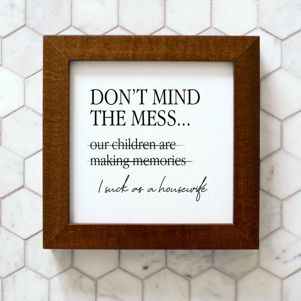 Wood Framed Signboard - Housewife