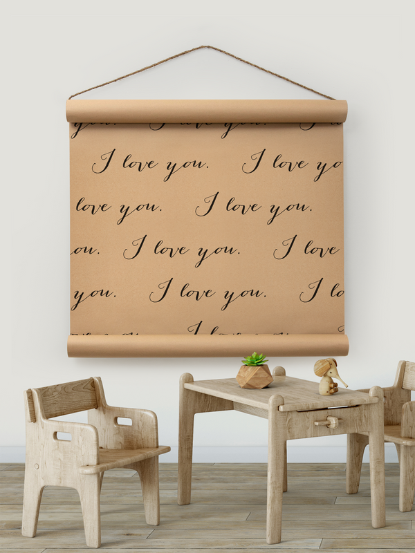 Wall Scroll - I Love You Infinity - Multiple Sizes