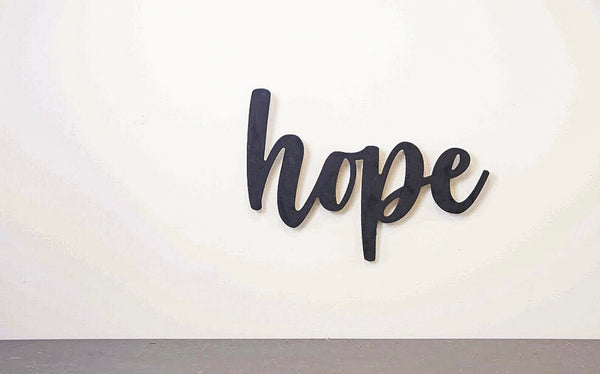 Wood Cutout - Hope