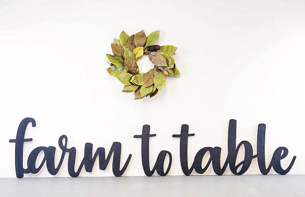 Wood Cutout - Farm To Table