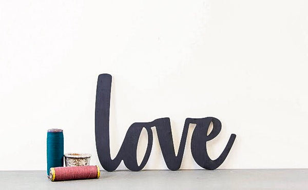 Wood Cutout - Love