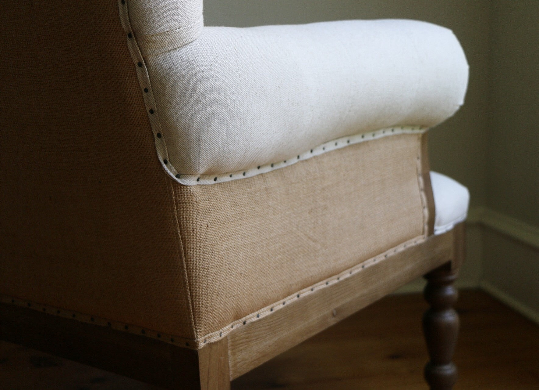 Charlotte Linen Tufted Chair Smallwood Home