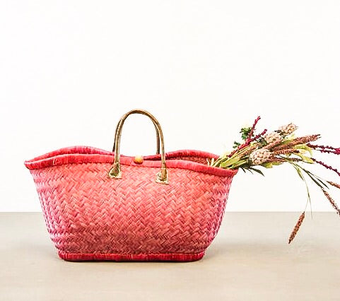 Savannah Raffia Tote Baskets - Multiple Colors