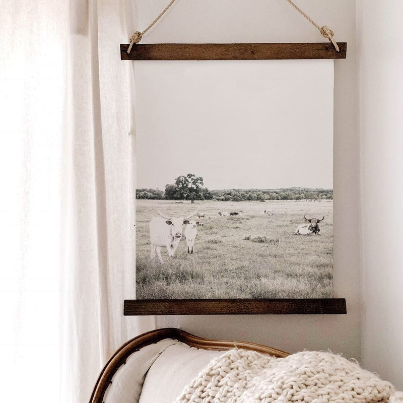 Canvas Hanging Print - Longhorns [CLOSEOUT]
