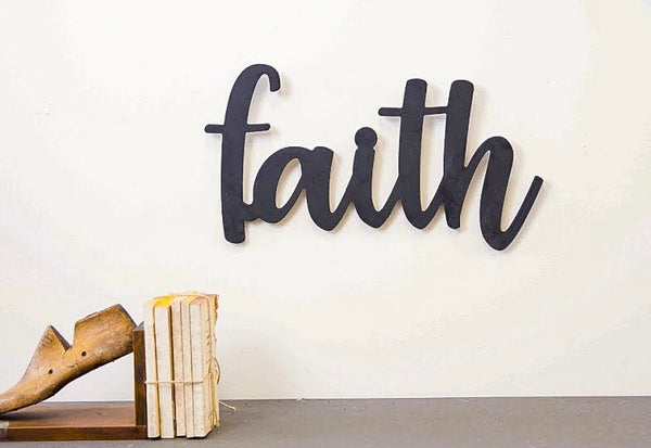 Wood Cutout - Faith
