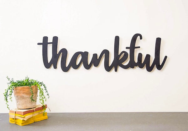 Wood Cutout - Thankful