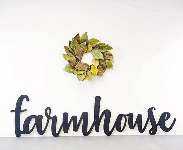 Wood Cutout - Farmhouse