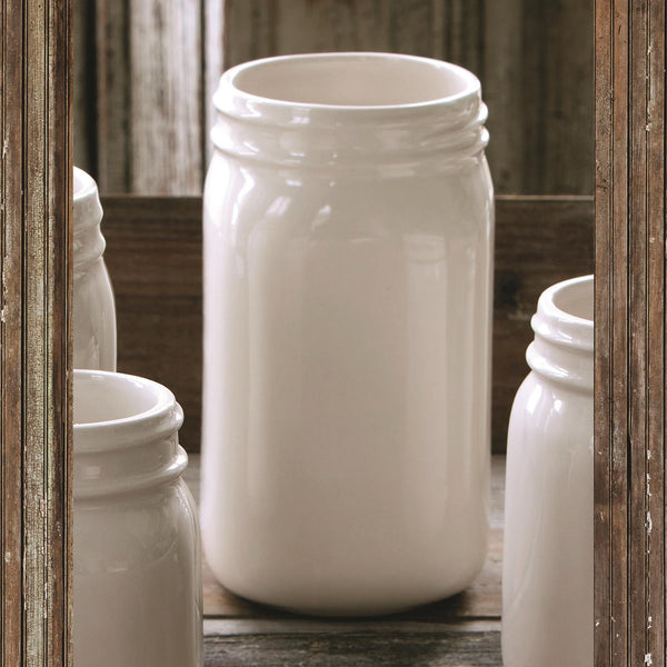 Creamware Quart Jar