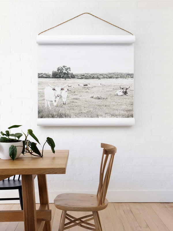 Wall Scroll - Longhorns - Multiple Sizes
