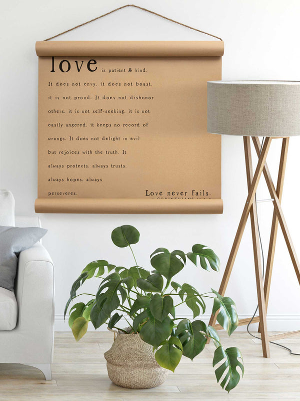 Wall Scroll - Love - Multiple Sizes