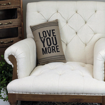 Linen Pillow - Love You More - Small