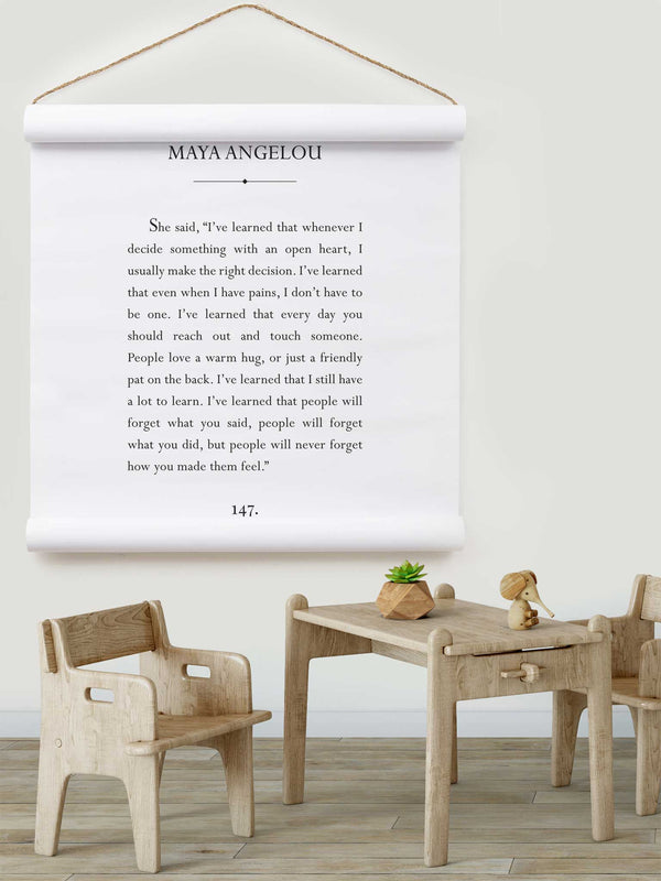 Wall Scroll - Maya Angelou - Multiple Sizes
