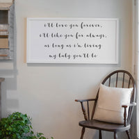 Smallwoods My Baby You'll Be Quote Sign White