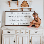 Smallwoods My Baby You'll Be Quote Sign Stain