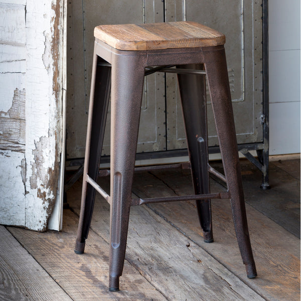 Elm Topped Barstool (Local Pick Up Only)