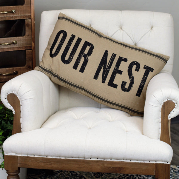 Linen Pillow - Our Nest