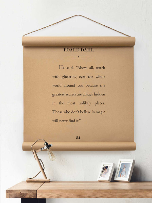 Wall Scroll - Roald Dahl - Multiple Sizes