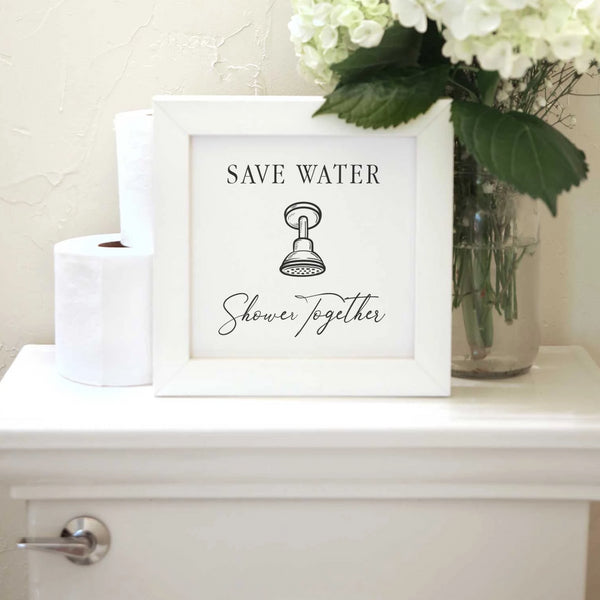 Wood Framed Signboard - Save Water