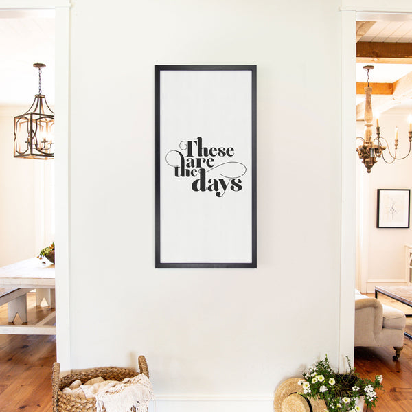 Smallwoods These Are The Days Sign XL Black