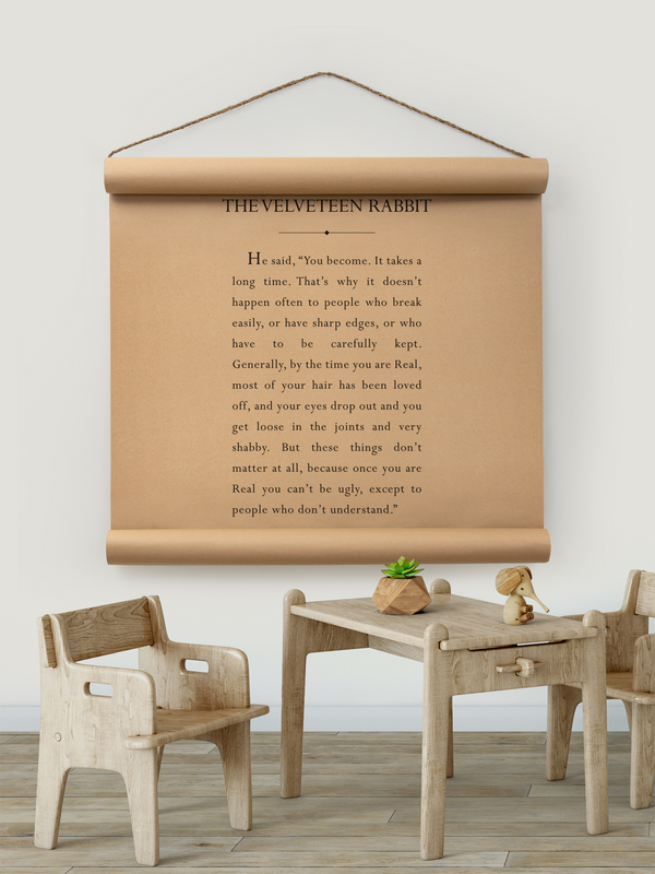Wall Scroll - Velveteen Rabbit - Multiple Sizes
