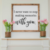 Wood Framed Signboard - With You - Square - 26x26