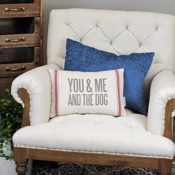 Linen Pillow - You Me & the Dog