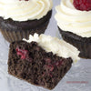 Double Chocolate Raspberry Protein Cupcakes